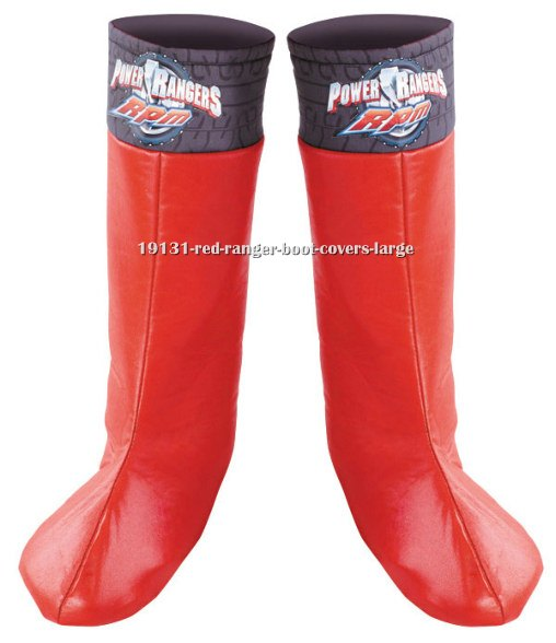 Red Ranger Boot Covers