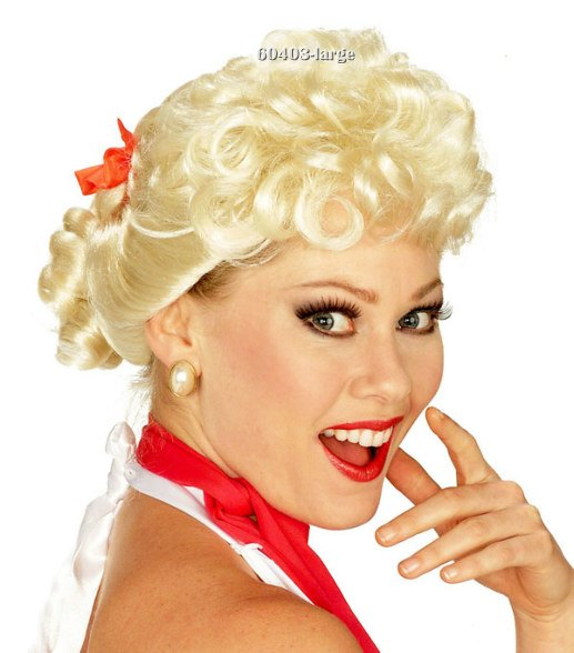 Adult 50s Housewife Blonde Wig