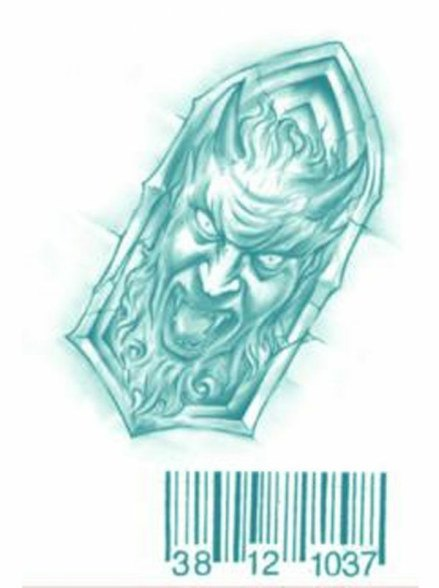 d34d685bdf8ed Prison Break Michael Scofield Tattoos - Barcode and Devil Arch : Costumes  Life
