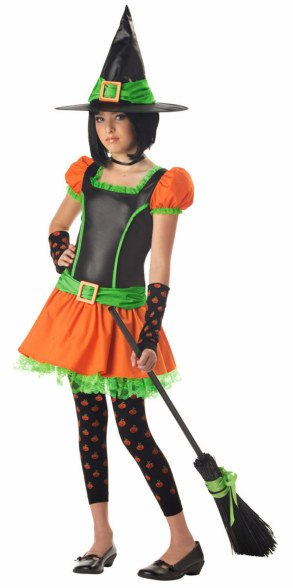 Tween and Teen Sassy Pumpkin Witch Costume