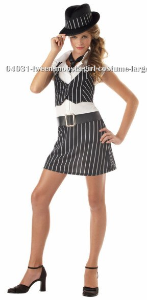 Tween Mobsta Girl Costume
