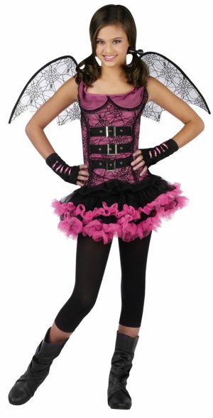 Teen and Tween Night Wing Spider Fairy Costume