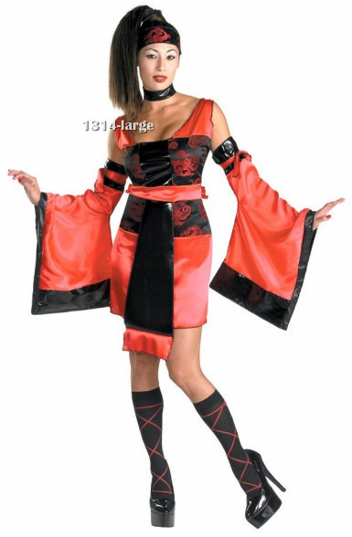 Teen or Adult Sexy Samurai Costume