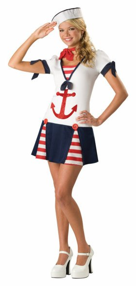 Deluxe Teen Sassy Sailor Costume