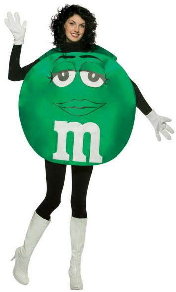 Teen and Tween Poncho Green M & M's Costume