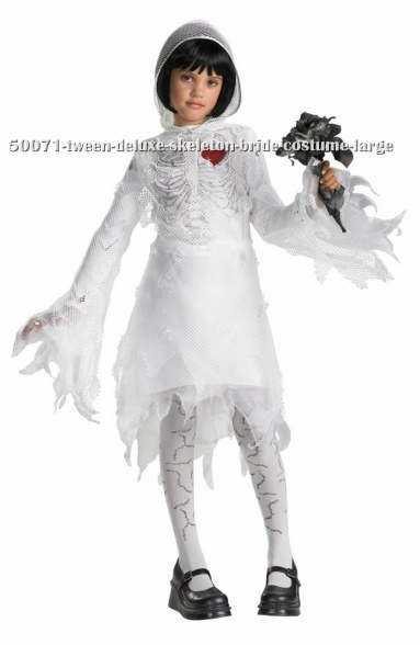 Tween Deluxe Skeleton Bride Costume