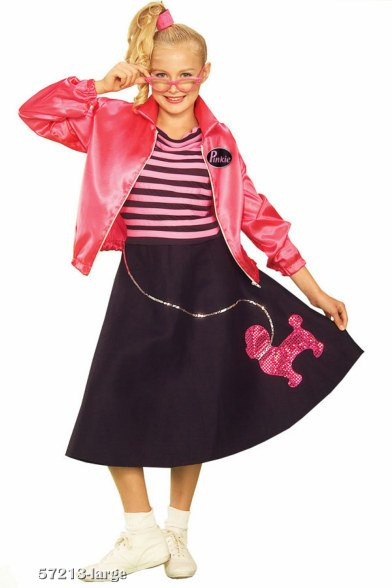 Teen Fifties Pink Poodle Skirt Costume