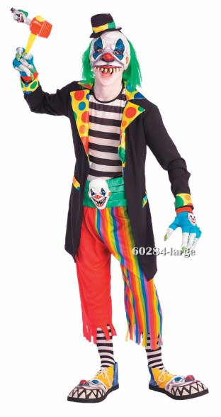 Teen Scary Evil Clown Costume