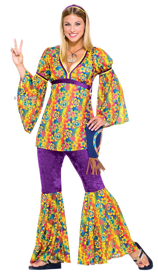 Teen Purple Haze Hippie Costume