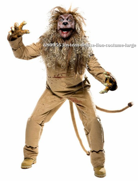 Teen Deluxe Lion Costume - Click Image to Close