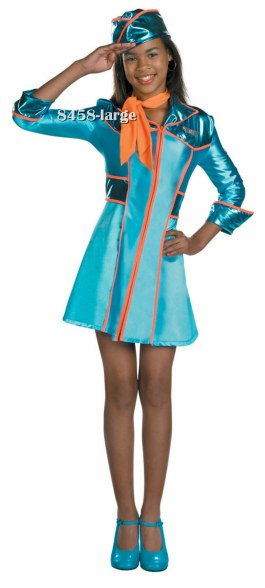 Girls and Tween Jr. Stewardess Costume