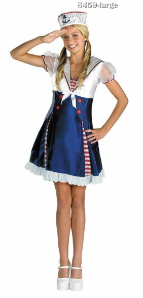 Girls and Tween Ahoy Matey Sailor Costume