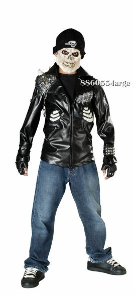 Teen Scary Death Rider Biker Costume