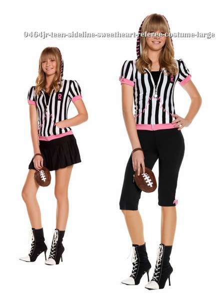 Teen Sideline Sweetheart Referee Costume