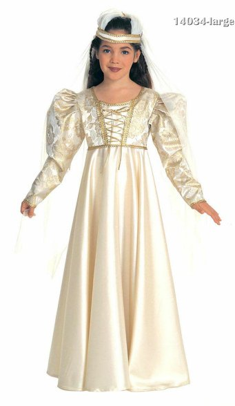 Child Princess Bride Renaissance Costume Dress