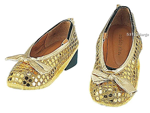 Girls Gold Sequin Shoe Covers