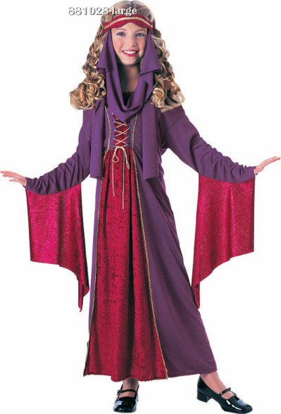 Girls Gothic or Renaissance Princess Costume