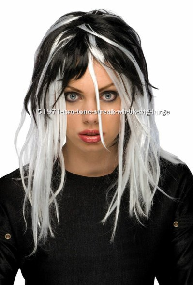 Black and White Streaked Wig