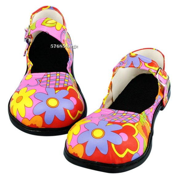 Pink Flower Clown Shoes