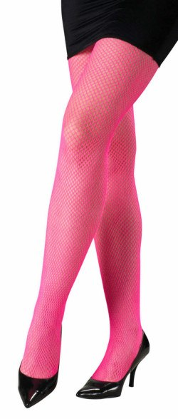 Neon Fishnet Pantyhose in Pink