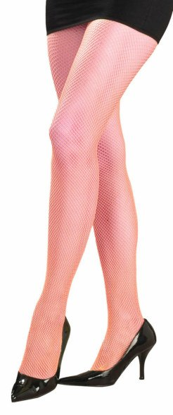 Neon Fishnet Pantyhose in Orange