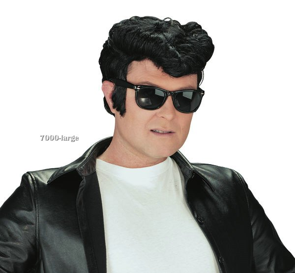 50's Greaser Wig in Black