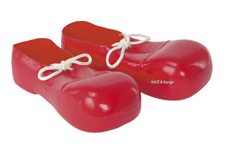 Kids Red Bozo Clown Shoes