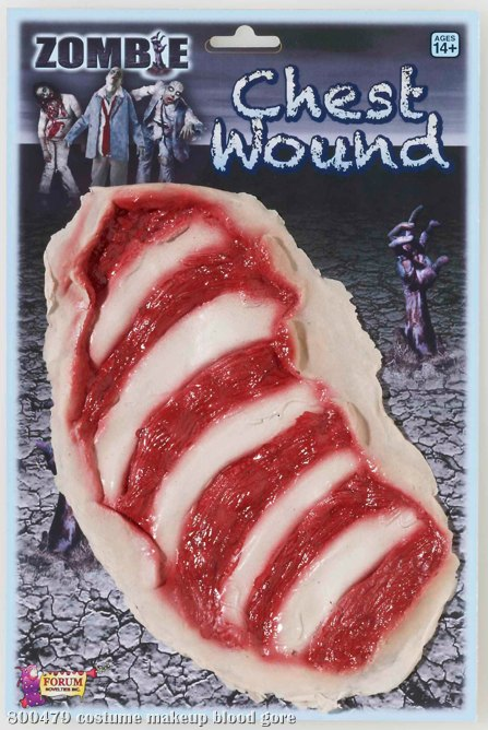 Zombie Chest Wound Adult