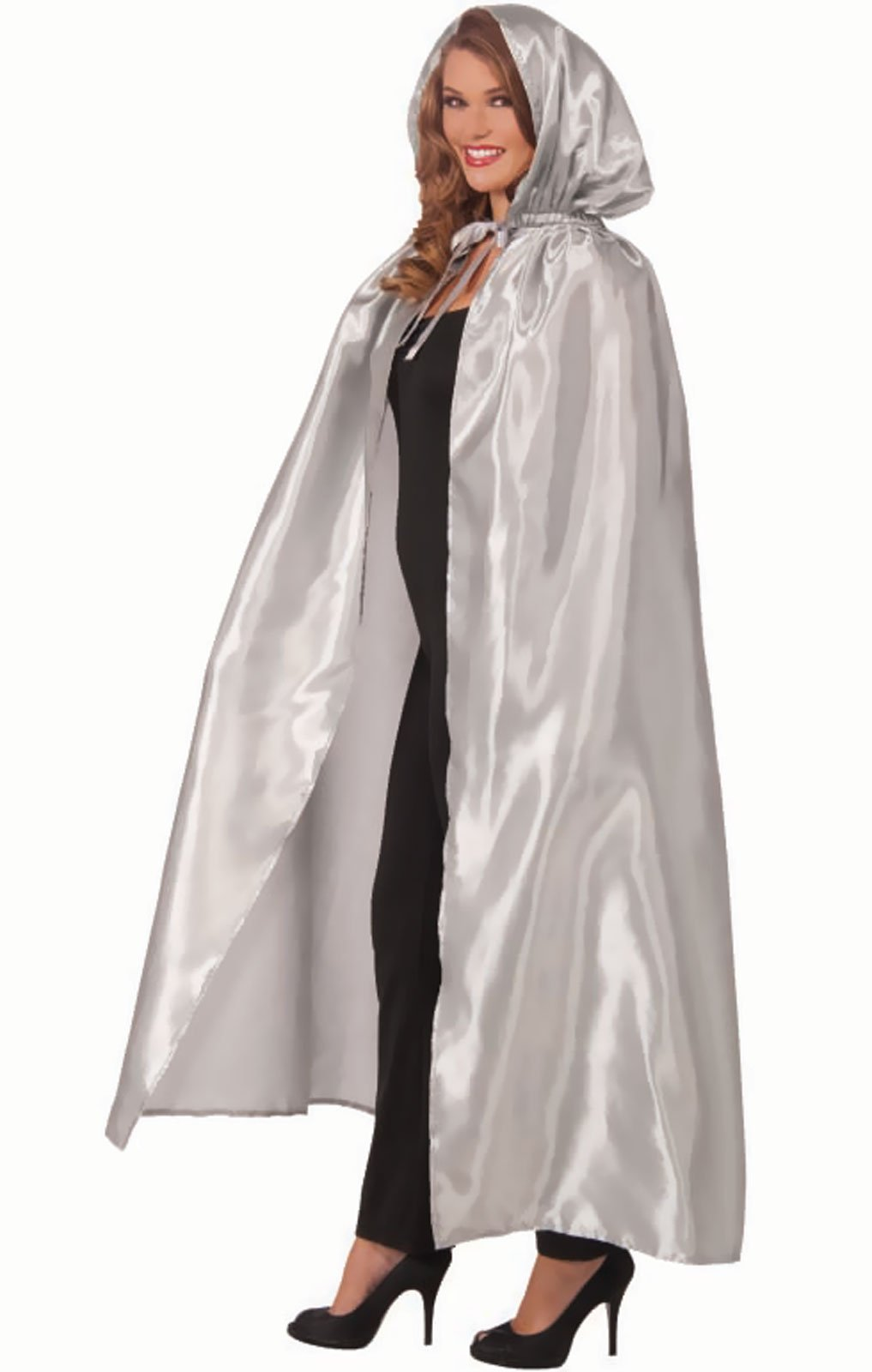 Fancy Masquerade Silver Adult Cape