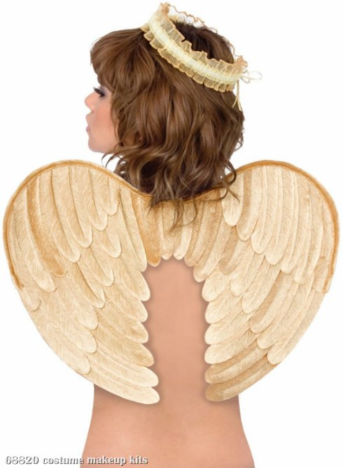 Velvet Angel Wings and Halo (Gold) Adult