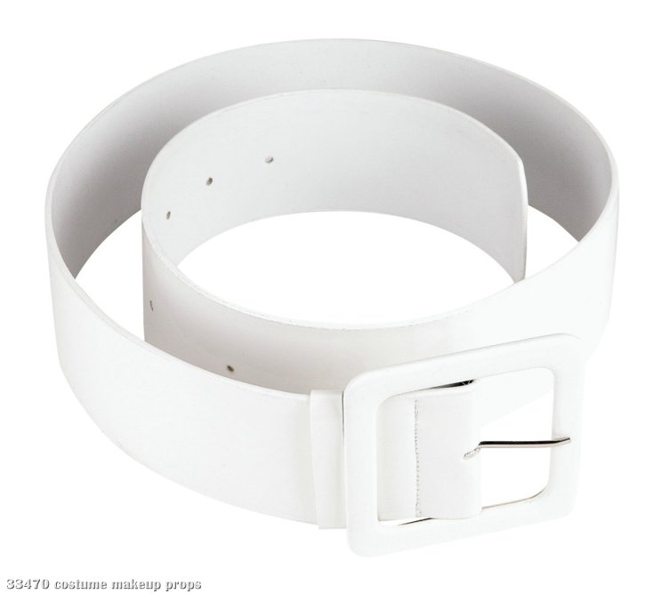 White-Mod About You Patent Belt