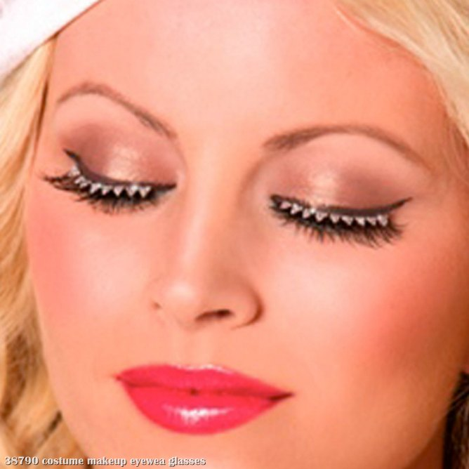 Eyelashes with Triangle Crystals