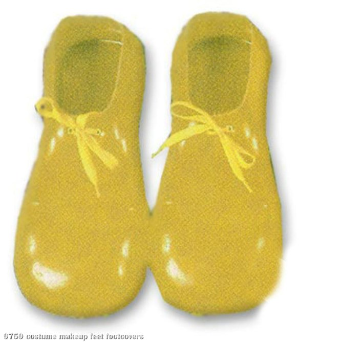 Yellow Plastic Clown Shoes