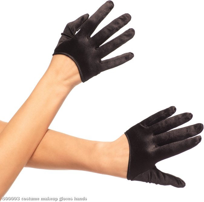Mini Cropped Satin Gloves (Adult)