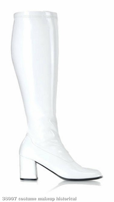 Gogo (White) Adult Boots - Wide Width