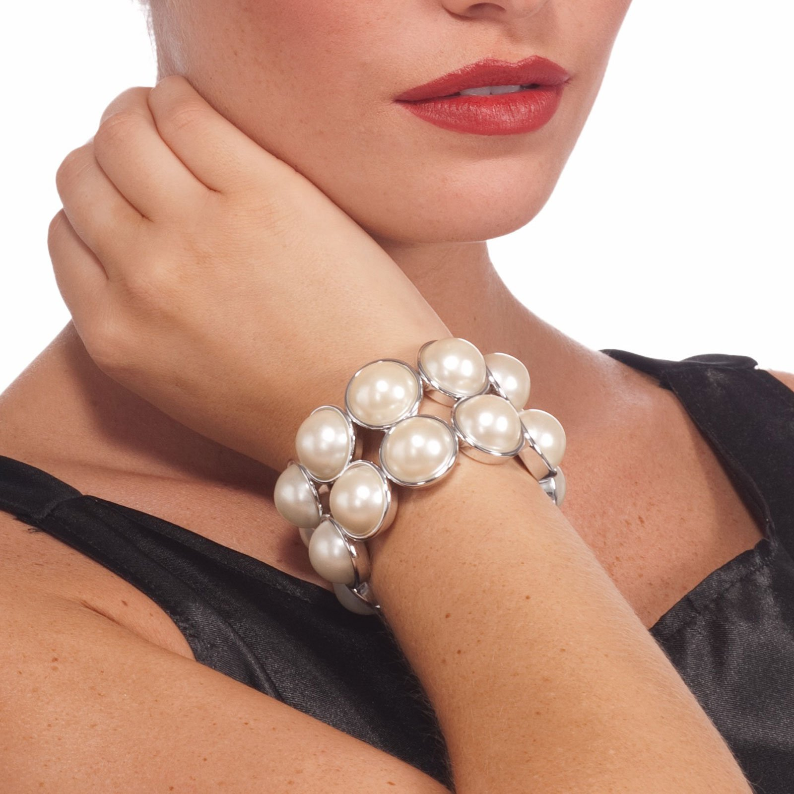 Vintage Hollywood Double Layer Pearl Adult Bracelet