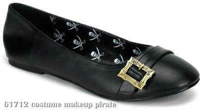 Pirate (Black) Patent Flat Adult Shoes