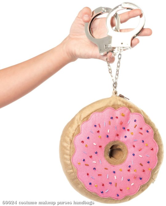 Donut Purse With Handcuff Strap