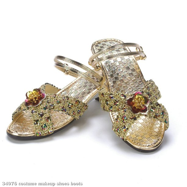 Gold Jewel Slippers Child