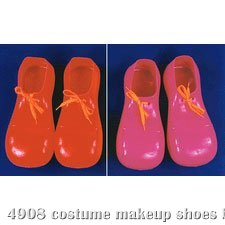 "Plastic Clown Adult Shoes (15"")"