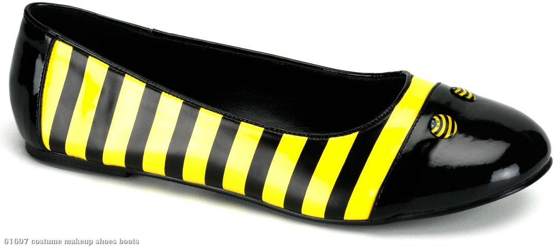 Bee (Black Patent) Flat Adult Shoes