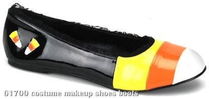 Candykorn (Black) Patent Flat Adult Shoes