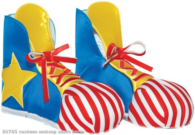 Clown Adult Shoe Covers Circus Costume