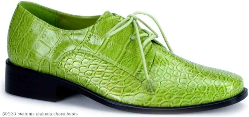 Lime Green Alligator Shoes Adult