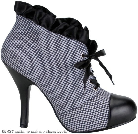 Houndstooth Detective Boots Adult