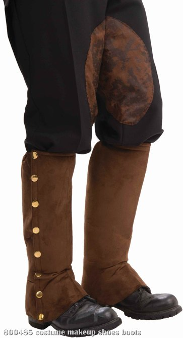Steampunk Male Spats Brown Adult