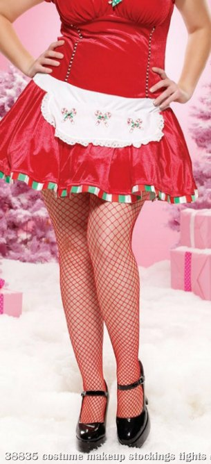 Fence Net Pantyhose Adult Plus (Red)