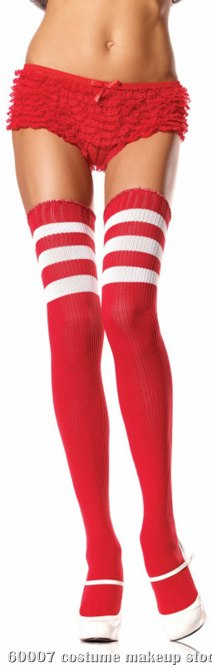 Athletic Ribbed Thigh Highs Adult