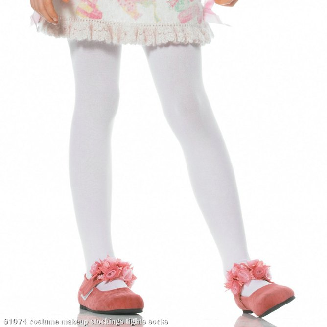 White Opaque Tights Child