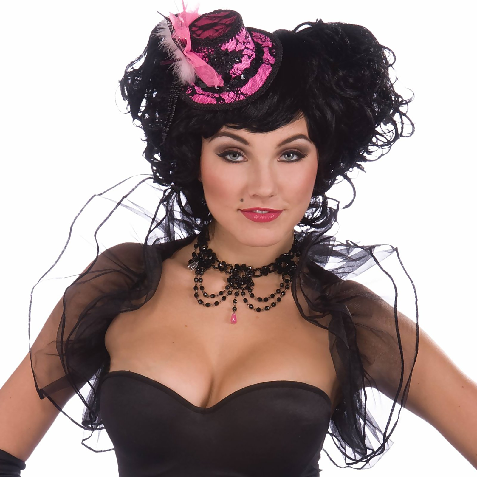 Burlesque Black Tulle Adult Shrug